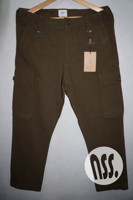 「NSS』WTAPS 17 JUNGLE ENGLAND TROUSERS COTTON CHINO M號 窄版 綠