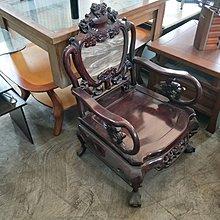 二手家具全省估價(大台北冠均 新五店)二手貨中心--花梨木大理石實木1椅和大茶几 SO-080480