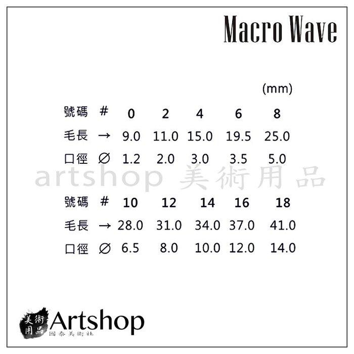 【Artshop美術用品】Macro Wave 馬可威 AR12 RF 半貂水彩筆 (圓) #18