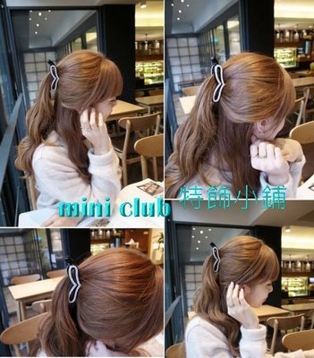 mini club特飾小店**全新 日韓款式 鑲閃鑽閃石心心香蕉夾 髮夾 頭夾** $48包郵