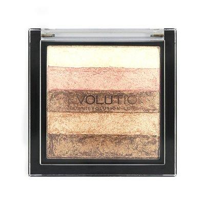 【愛來客 】英國Makeup Revolution Vivid Shimmer Brick - Radiant 高光打亮