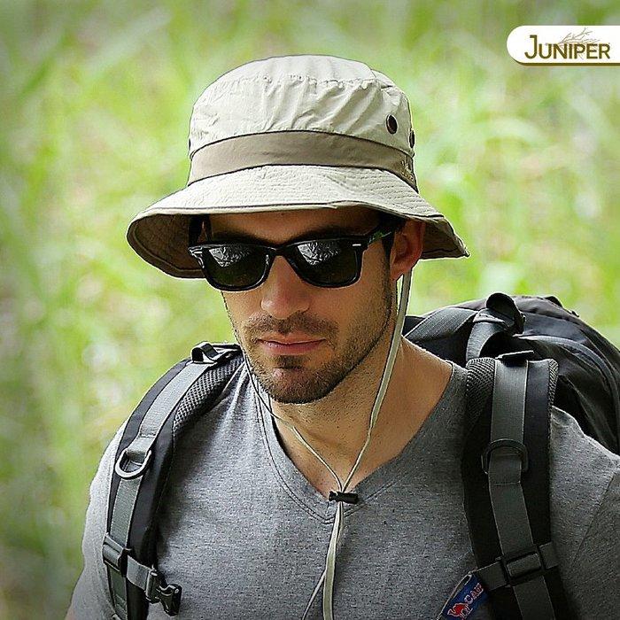 預售款-LKQJD-Juniper戶外帽子男士釣魚帽防曬帽夏季遮陽盆帽漁夫帽速干大頭圍