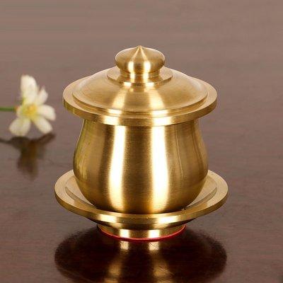 旦旦妙 佛教用品供佛水杯凈水杯純銅佛前大悲聖水杯觀音供杯 童銅27