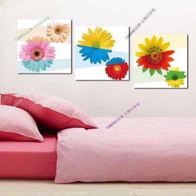 【60*60cm】【厚1.2cm】花卉-無框畫裝飾畫版畫客廳簡約家居餐廳臥室牆壁【280101_344】(1套價格)