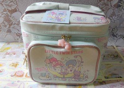雙子星店 Sanrio Little Twin Stars 雙子星 沐浴系列 KiKi LiLi 手提化妝箱 化妝儲物盒 日本