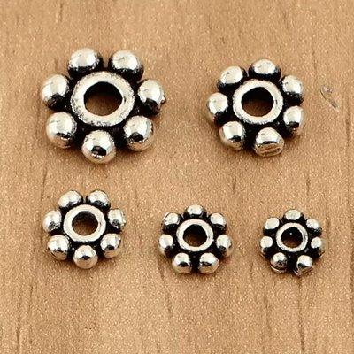 嗨,寶貝銀飾珠寶* 925純銀飾品 DIY串珠配件☆4.5mm花形墊片 隔珠 擋珠 配件 掛件☆客製化