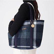 BURBERRY副牌《BLUE LABLE CRESTBRIDGE》優雅英式經典格紋/購物包/通勤包/媽媽包/旅行包/日本製造