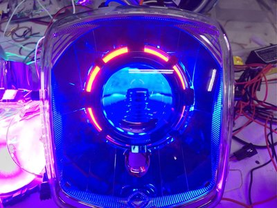 Cuxi 115 直上遠近魚眼燈具組 含光圈 線組 45w hid 整套3000 Bws 勁戰 雷霆  jr gtr