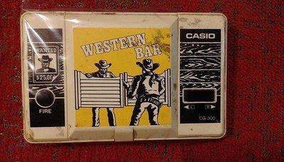 【 金王記拍寶網 】Z302 (常5)早期1990年 CASIO CG-300 掌上型電玩 (可玩無聲) 罕見稀少~