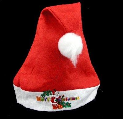 紅色 聖誕節 聖誕老人 聖誕帽 兒童 童裝 化妝 舞會 派對 PARTY CAP MERRY CHRISTMAS LOGO XMAS X096