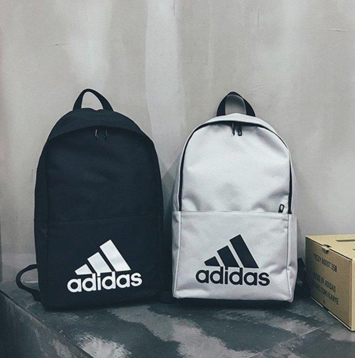 Adidas 愛迪達雙肩包 單肩包 運動旅行電腦戶外學生書包 校園背包 男女情侶潮牌背包胸包腰包 簡約後背包/澤米
