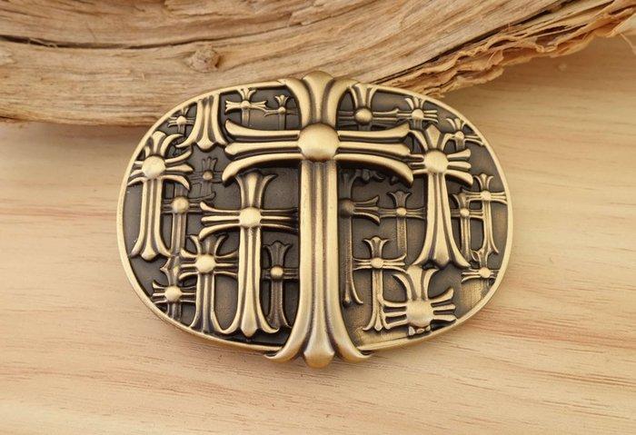 老約翰 純銅 皮雕 皮帶扣 皮帶頭 銅質 古銅色 內徑4cm  皮帶