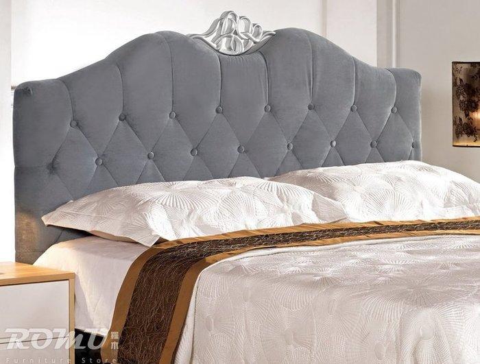 【DH】商品編號G678-8商品名稱凱德5尺雙人造型床片(圖一灰色)備有6尺另計。簡約時尚精品。主要地區免運費