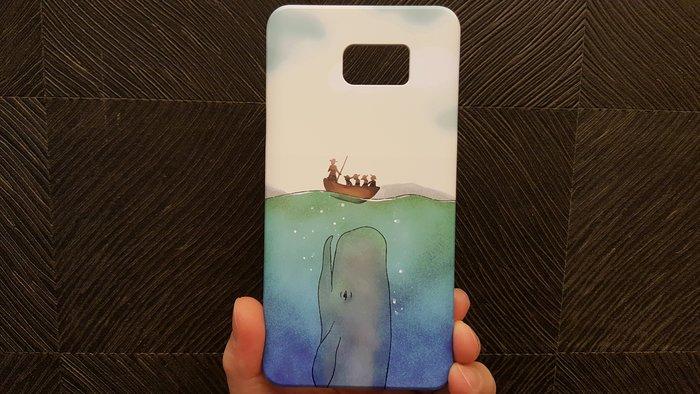 三星Note 5-手機殼(抹香鯨) (硬殼) (3D彩繪)(韓國空運)-現貨