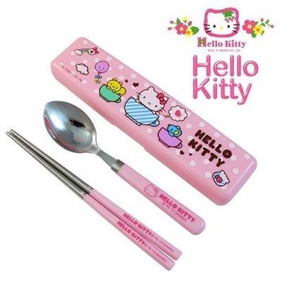 GIFT41 4165本通 三重店  Hello Kitty 凱蒂貓 kt-環保餐具組(盒) KS-8236