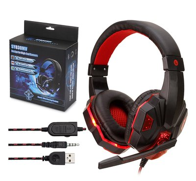 制霸遊戲 冷光LED 頭戴式遊戲電競耳機麥克風 電腦耳麥 電競耳機 耳機 視訊 耳麥