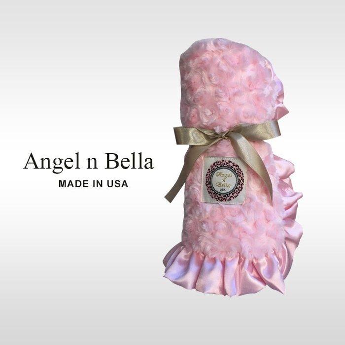 ☆°Angel n Bella.╯☆°【美國製】頂級柔絲涼感攜帶毯/嬰兒毯-雪紡粉(彌月禮/生日禮)