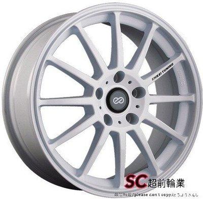 【超前輪業】編號(219) 正ENKEI SC23 15吋鋁圈 4孔100108 完工價 4400 白色 YARIS