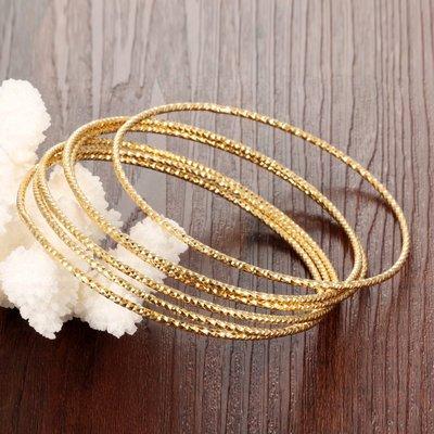 新款新娘首飾鍍18K金細手環歐美流行多環自由組合佩戴手鐲N460