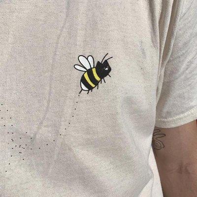 貓咪衣服荷蘭Leon Karssen藍污貓貓臉呆萌蜜蜂飛舞短袖T恤Bumble Tee現貨