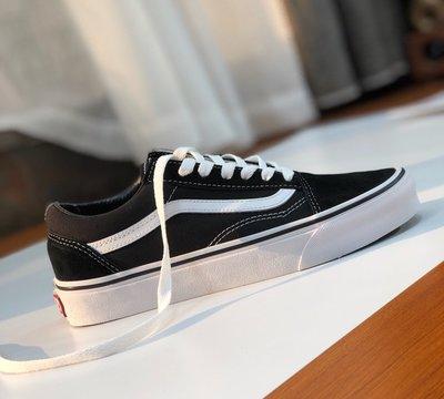 正品萬斯VANS OLD SKOOL黑色 深藍 紅色 經典款滑板鞋