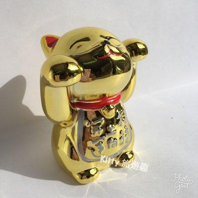 [Kitty 旅遊趣] Hello Kitty 招財貓存錢筒 撲滿 凱蒂貓 陶瓷擺飾 新年禮物 底部有孔 裝飾品