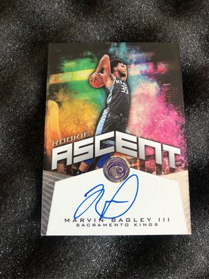 2018-19 Chronicles Marvin Bagley III Kings Rookie Ascent Auto /99