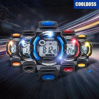 兒童手錶 男孩女孩防水夜光計時運動男錶電子手錶 生日禮物