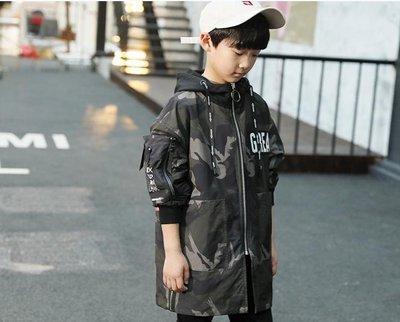 男童外套   兒童裝男童裝外套中大童兩面穿中長款風衣加厚韓版潮