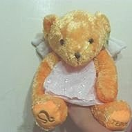 全新橘色天使泰迪熊(約45cm)