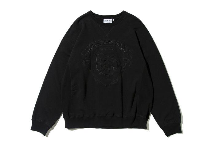 "[ LAB Taipei ] BlackEyePatch "" EMBLEM CREW SWEAT "" (Black)"