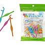 Akachan 阿卡將 彩色嬰兒牙線棒 30支 兒童牙...
