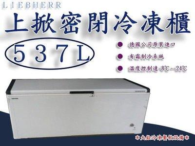 *大銓冷凍餐飲設備*德國利勃LIEBHERR 6尺3 上掀冷凍櫃537L(EFL-5705)冰淇淋櫃/  台北市