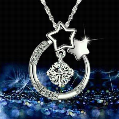 天然白水晶許願星星925純銀項鍊