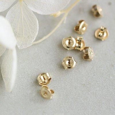 AT53-法式手工輕珠寶-特價 進口 全純9K黃金迷你耳堵耳塞耳背