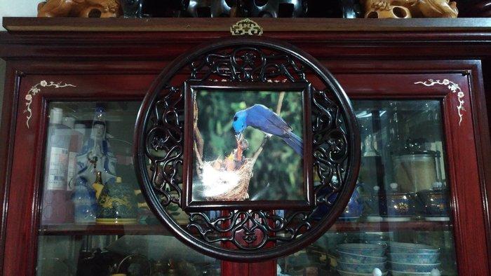 大實木窗花藝術壁掛/直徑39.5公分/早期收藏/值得珍藏/櫥窗藝品/古色古香/文人氣息