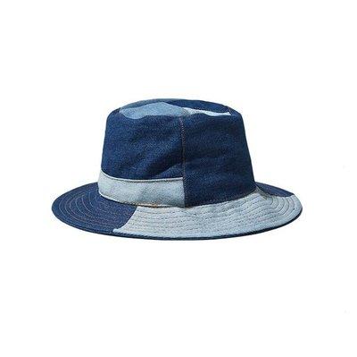 【 PUNX 】FOX   PUNX 21SS HAT 古著丹寧拼接牛仔漁夫帽
