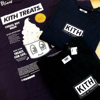 BLACK全新KITH Treats冰店限定Proof Purchase冰淇淋徽章CLASSIC BOX LOGO短T