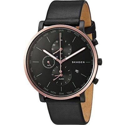 現貨 可自取 SKAGEN SKW6300 手錶 42mm 玫瑰金 計時 皮革錶帶 男錶女錶