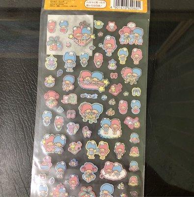 全新 正版 雙子星 kikilala 日本製 2013 出版 夏季貼紙 只有一張