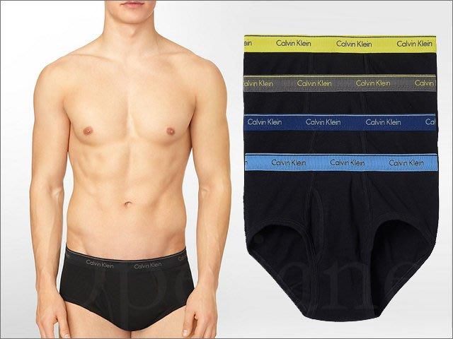 Calvin Klein Brief CK 卡文克萊內著內褲三角褲四件一組 黑色底 S M L XL號 愛Coach包包
