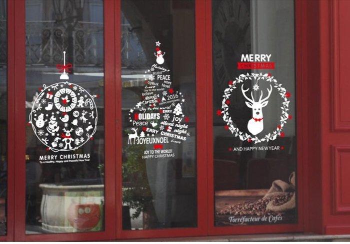 小妮子的家@繽紛聖誕快樂 壁貼/牆貼/玻璃貼/磁磚貼/汽車貼/家具貼