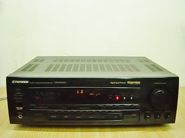 保固3個月【小劉2手家電】PIONEER日本製5聲道FM擴大機,VSX-D503S型,有SUPER BASS超重低音!