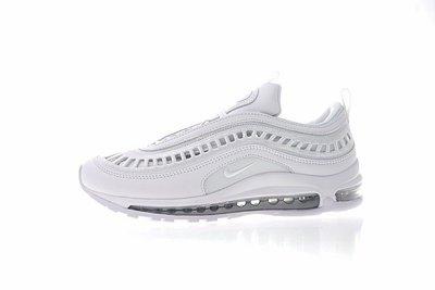 D-BOX  Nike Air Max 97 Ultra 17 SI 復古 氣墊 縷空 子彈鞋 純白色