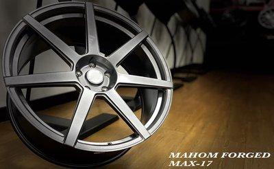超鑫鋁圈 MAHOM MAX-17 22吋鍛造鋁圈 TESLA MODEL-X 5孔120 5/120 特斯拉 金屬鈦色