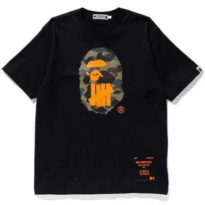 【P+C】BAPE x UNDEFEATED HONG KONG EDITION TEE 香港限定 迷彩猿人頭 短袖T恤