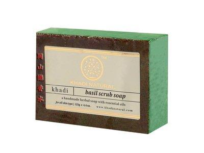 岡山戀香水~印度 Khadi 草本羅勒去角質手工精油香皂125g~優惠價:65元