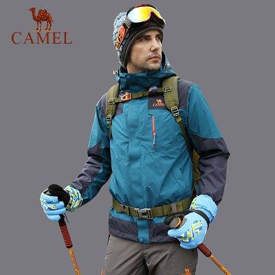 時尚服飾【東麗面料】CAMEL駱駝戶外男款沖鋒衣 防風防水搖粒絨沖鋒衣
