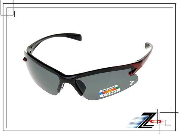 兒童專用【Z-POLS專業級推薦款】100%美國寶麗來偏光運動型(烤漆雙漸黑紅)太陽眼鏡