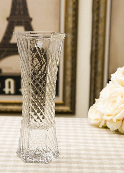 [C.M.平價精品館]現貨特價款高25公分時尚簡約透明玻璃花瓶